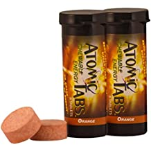 Atomic Tabs Chewable Energy and Preworkout - Orange - 6 Serving Container, 2 PACK