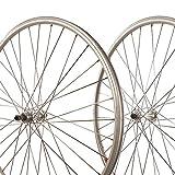 Sta Tru Silver Alloy Road Hub Front Wheel (700X25)