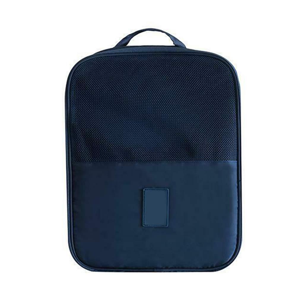 Borsa portascarpe da Viaggio con Cerniera Traspirante Dark Blue Impermeabile Antipolvere iSunday