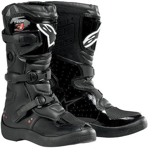 Alpinestars Tech 3S Youth Boys MX Motorcycle Boots - Black /