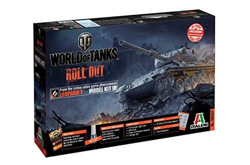 Italeri 36507 World of Tanks WoT Leopard 1 A2 Tank Plastic Model Kit, 1:35 Scale