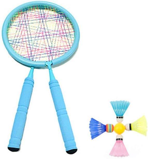 Raqueta de Tenis y Bola Conjunto, Ligera bebé Seguro Raqueta de bádminton Juego Juego Juego de Interior-Exterior de educación Infantil Deportes Juguetes,Azul