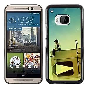 Exotic-Star ( Design RV Kid ) Fundas Cover Cubre Hard Case Cover para HTC One M9