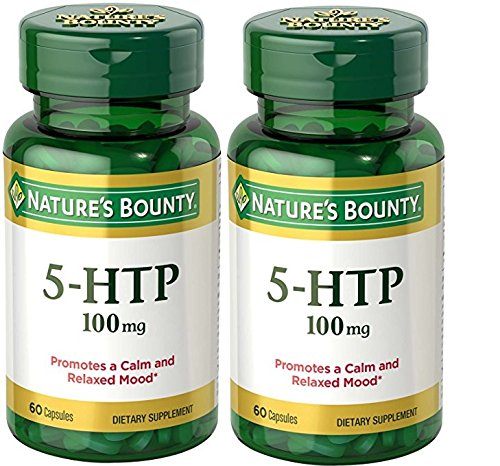 Nature's Bounty Double Strength 5-HTP 100 mg, 60 Capsules (Pack of 2)