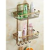 qiuxi Modern bathroom accessories Bathroom Shelf , Traditional Antique Copper Wall Mounted