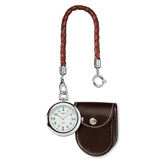 Regent Reloj de bolsillo Hombre elegante Analog clásico reloj de cuarzo esfera blanco urp039: Regent: Amazon.es: Relojes