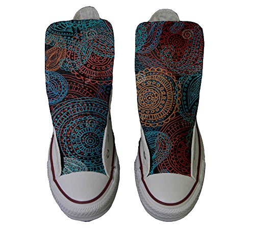 Converse All Star zapatos personalizados Unisex (Producto HANDMADE) Back Groud Paisley