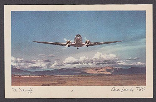 The Take-off DC-3 TWA postcard 1940s by The Jumping Frog