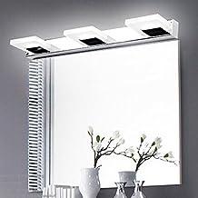 comeonlight 9W Bathroom Vanity light, 360 degree Rotation Modern Make Up Mirror Light, Fashion LED Wall Light, Cabinet Mirror Light, 3-lights Daylight White 900 Lumen Bathroom Bedroom lighting