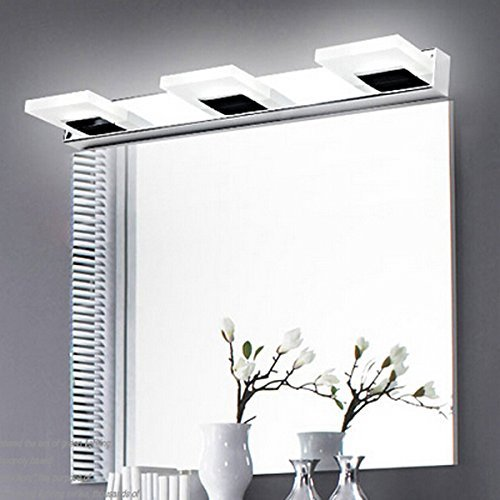 designer bathroom light fixtures. comeonlight 9w bathroom vanity light, 360 degree rotation modern make up mirror fashion led wall cabinet 3-lights daylight white designer light fixtures i