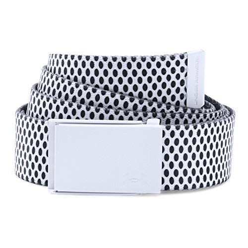 Printed Webbing Belt (Under Armour Women's Printed Webbing Belt, White/Black, One Size)