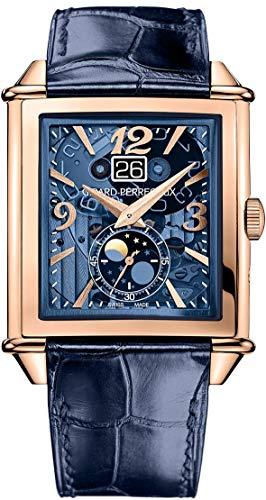 Girard-Perregaux-Vintage-1945-XXL-Blue-Tinted-Rose-Gold-Moonphase-Mens-Watch