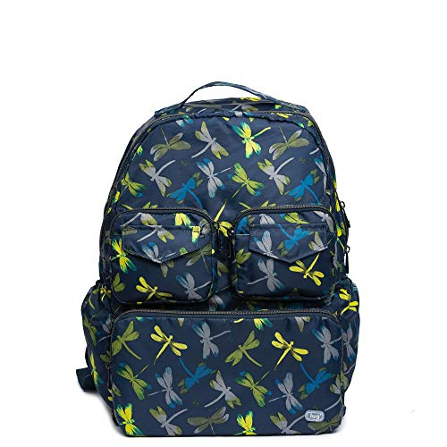 Lug Women's Puddle Jumper Packable, Dragonfly Navy Backpack, One Size ()