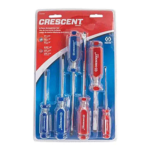 (Crescent CPS6PCSET 6PC ACETATE GRIP SCREWDRIVER SET)