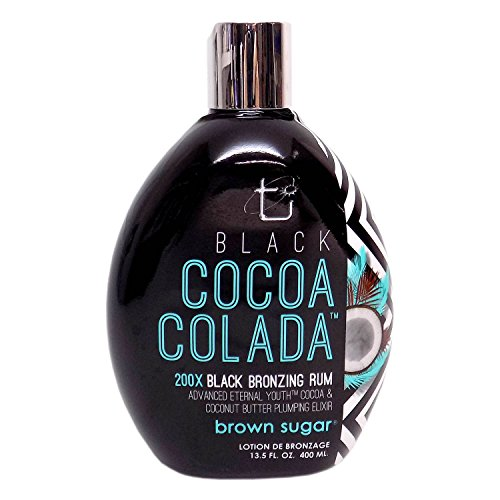 Lotion Tanning Bed Brown (Brown Sugar BLACK COCOA COLADA Bronzing Rum - 13.5 oz.)