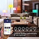 Govee LED Light Bulb Dimmable, Music Sync RGB Color Changing Light Bulb A19 7W 60W Equivalent, Multicolor Decorative No Hub Required Smart LED Bulb with APP for Party Home