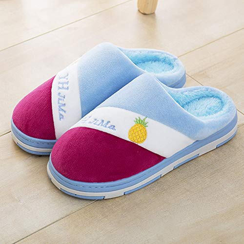 Slippers Womens Home Slip Women's 8 Anti Blue Anddyam Size House for Indoor Slippers XwY6zz0R