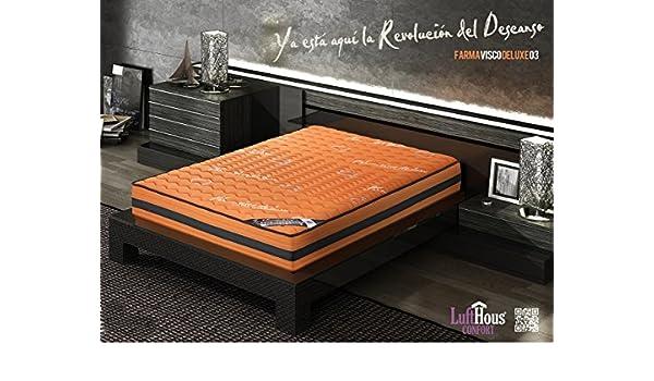 Colchón Farmavisco Deluxe o3 150X200-LUFTHOUS: Amazon.es: Hogar