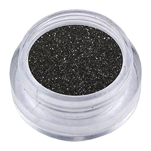 NB24 Nailart Glitzerpuder - Schwarz - Glitterstaub - Glitter Flitter Glimmer für Nail Art und Schmucknägel im Bereich künstliche Fingernägel Naturnagelverstärkung