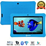 "Contixo Kids Tablet K1 | 7"" Display Android 6.0 Bluetooth WiFi Camera Parental Control for Children Infant Toddlers Includes Tablet Case (Blue)"