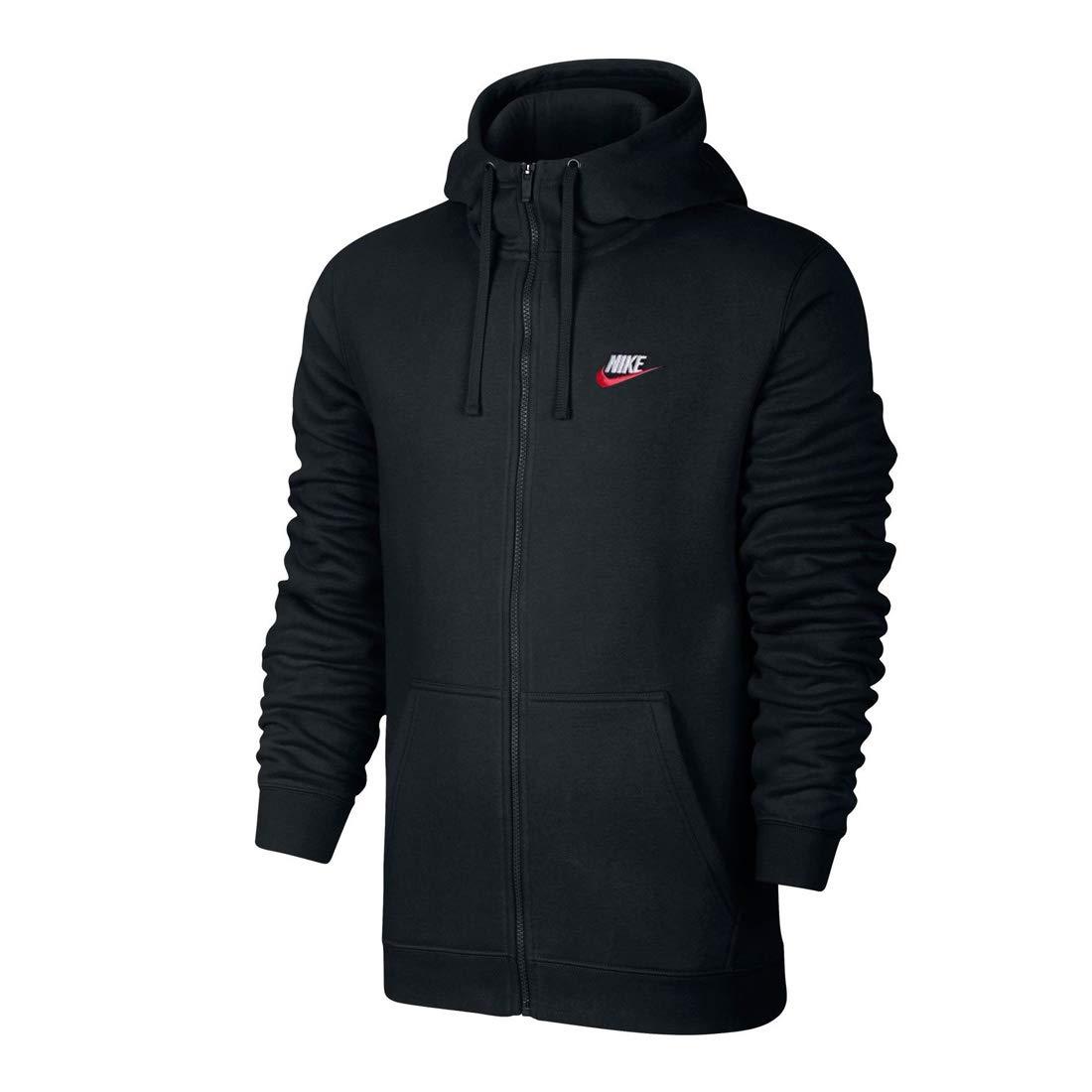 Nike Men Dry Full-Zip Hoody L//S Top Black Gray Training Hooded Tee Jacket 860466