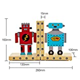 HEYFAIR Cute Cartoon Robots Kids Room Bookends Home Desk Decorations