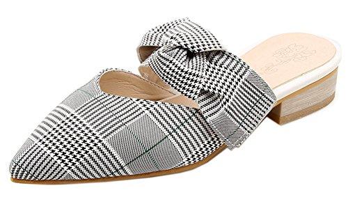 Easemax Vert Talon Chaussure Mules Femme Spécial Petit Pointue Carreaux 8wYTr8nBq