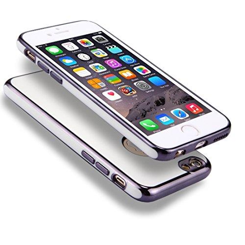 Phone Taschen & Schalen Für iPhone 6 Plus / 6s Plus, 360 Grad Shockproof abnehmbare Galvanotechnik TPU + PC Kombination Schutzhülle mit weißer PC-Abdeckung ( Color : Grey )