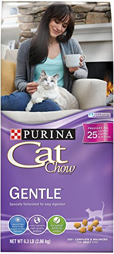 Purina Cat Chow Dry Cat Food, Gentle, 13 Pound Bag, Pack of 1