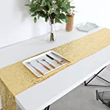 Home Sequin Table Runners, Wedding Sequin Table Runner Gold 12''x108'' Sparkly Table Linens for Home Decoration