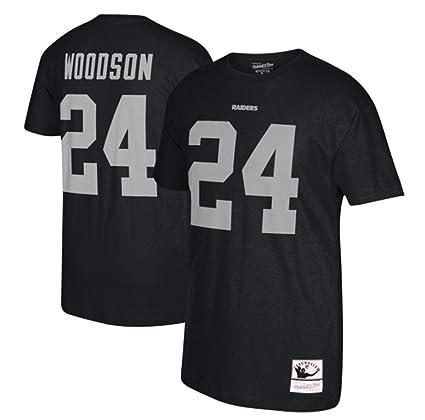 new product f44c7 80c0f Amazon.com : Mitchell & Ness Charles Woodson Oakland Raiders ...