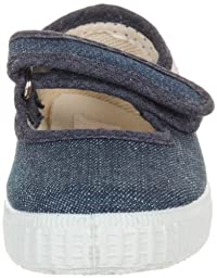 Cienta Mary Jane Sneakers for Girls – Denim Casual Shoes with Adjustable Strap, 27 EU (9.5 M US Toddler)