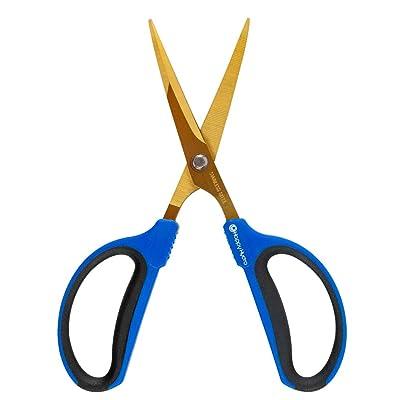 Happy Hydro - Trimming Scissors - 60mm Straight Tip Blades - Titanium Coated : Garden & Outdoor