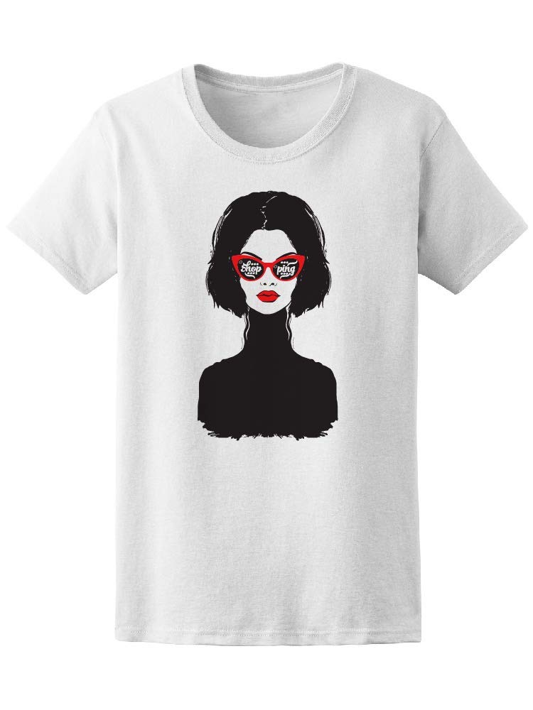 Fashion Lady Shopping Sunglasses Tee Women's -Image by Shutterstock