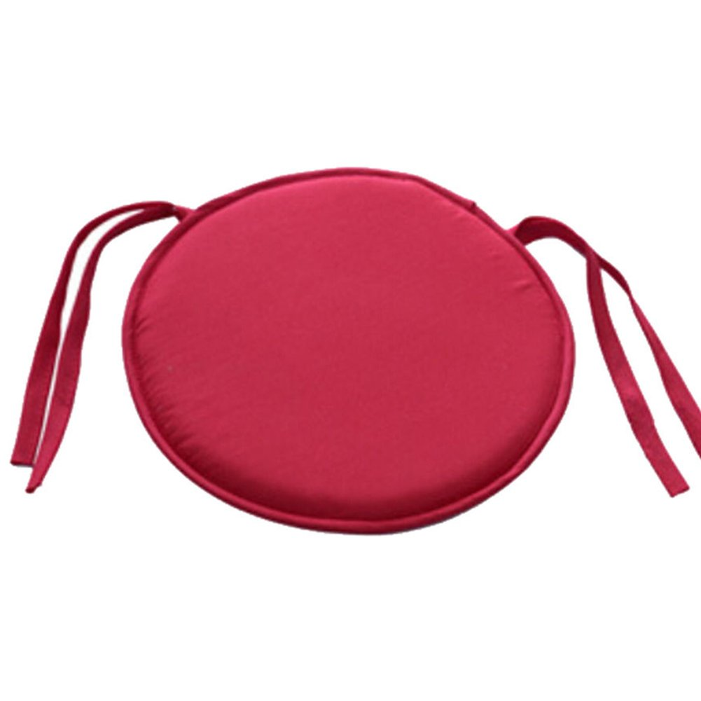 28cm x 28cm Round Chair Cushion Removable Seat Pads for Indoor Outdoor Dining Garden Patio Home Office Kitchen, Can Machine Washing (9 Colors)(Red) Behavetw