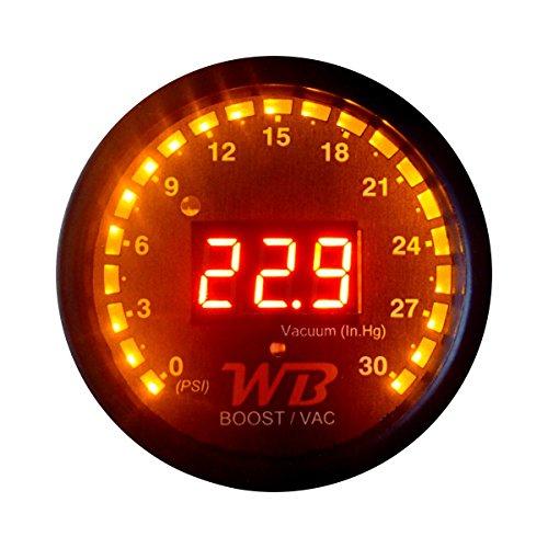 Analog Vacuum Gauge - APSX B2 Digital Vacuum/Boost Display Gauge (Red)