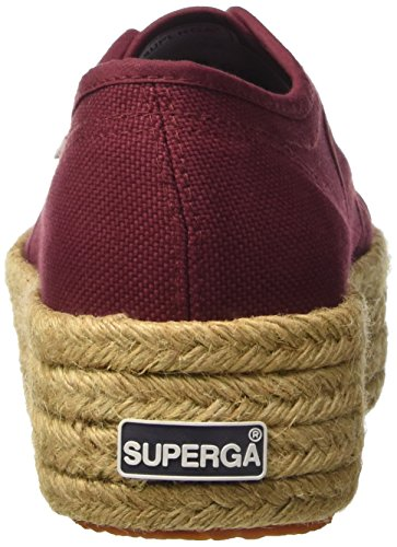 Superga 2790-Cotropew, Zapatillas de Estar por Casa para Mujer Rosso (Dk Bordeaux)