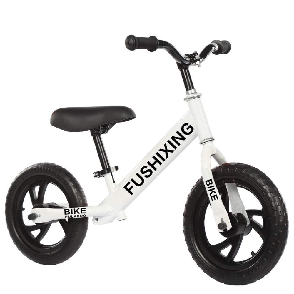 Weiß GSDZSY -Kinder Laufrad Lernlaufrad, Rahmen Aus Carbonstahl, Verstellbarer Lenker, Sitz Und Ständer, Kapazität 50 Kg, 12  Eva-Reifen (¯▽¯),Weiß
