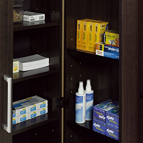 Sauder 411572 Home Plus Storage Cabinet,  L: 35.35 x W: 17.01 x H: 71.18, Dakota Oak finish