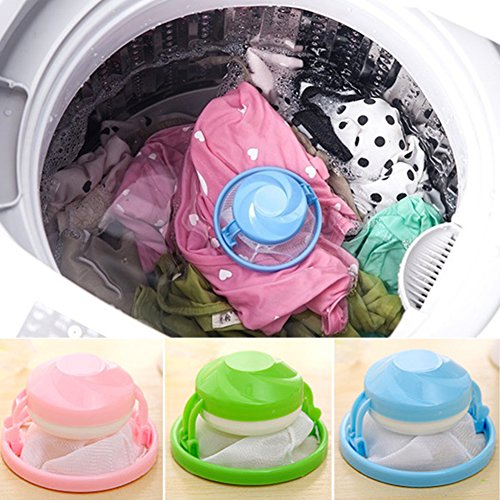 Yvonne Reusable Washing Machine Hair Removal Device Clothes Clean Laundry Ball Retaining Filter Bags Floating Lint Mesh Pouch Filter Bag Portable Laundry Supplies