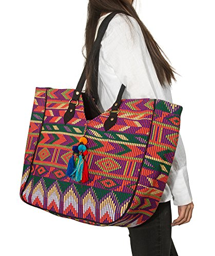 Pink Cute Hippie Everyday Tote Aztec Shoulder Bag Boho Casua Floral Cotton Lightweight Large Embroidered