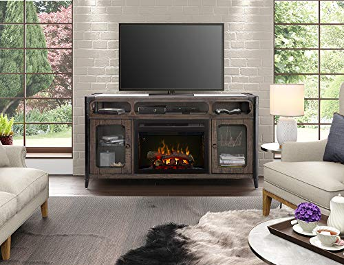 Cheap DIMPLEX Paige Media Console Electric Fireplace with Logs Black Friday & Cyber Monday 2019