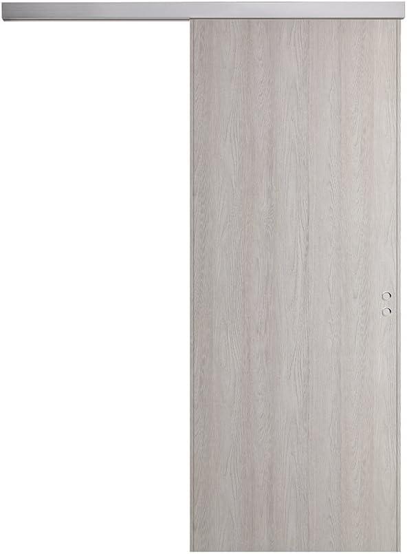 Puerta corredera exterior pared de madera varios tamaños BUSATTI Original Fresno: Amazon.es: Bricolaje y herramientas