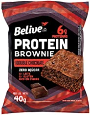 Protein Brownie Double Chocolate com 6g de Proteínas Zero Açúcar sem Glúten sem Lactose Belive 40g