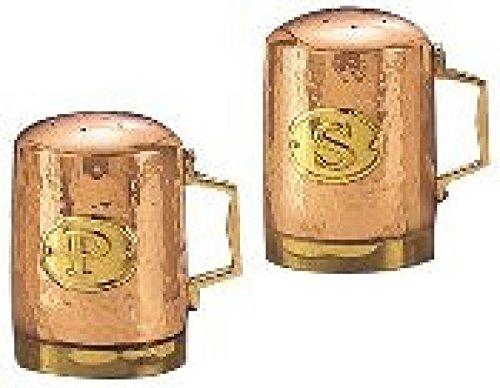 4.25 H. Decor Copper Hammered Stovetop Salt Pepper Set
