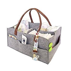 Zinniaya Portable Non-Woven Cloth Mummy Bag Bladder Multi-Functional Mummy Bag Diaper Stack Baby Stuff Collection…