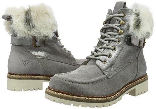 Tamaris grey Combat Grey Boots 221 Grau Comb 8 Comb 26076 Women's Uk 221 vYEvr