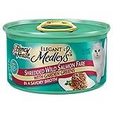 Elegant Medley Shredded Salmon Cat Food (Case of 24), My Pet Supplies