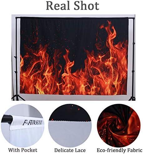 F Fun Soul Flame Hintergrund Brennende Flamme Kamera