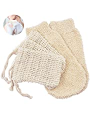 Zeepzakje bio sisal zeepzak 3 + 2 bamboe zachte peeling handschoen zeepzak zeepresten zeepzak peeling massage